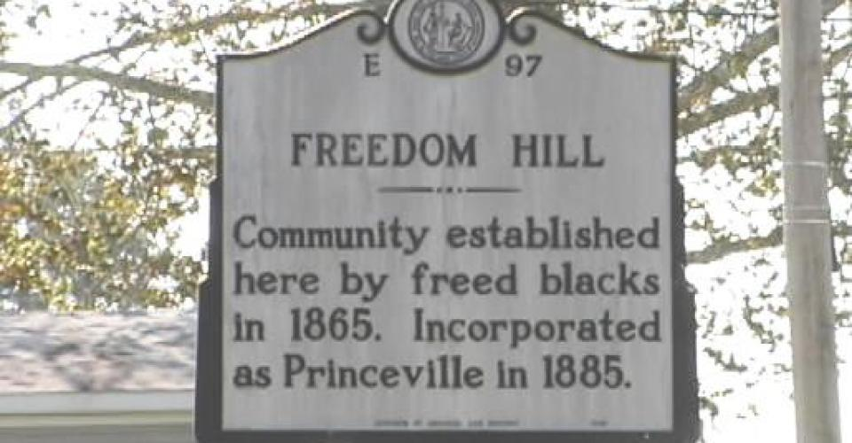 Image of Freedom Hill historical marker