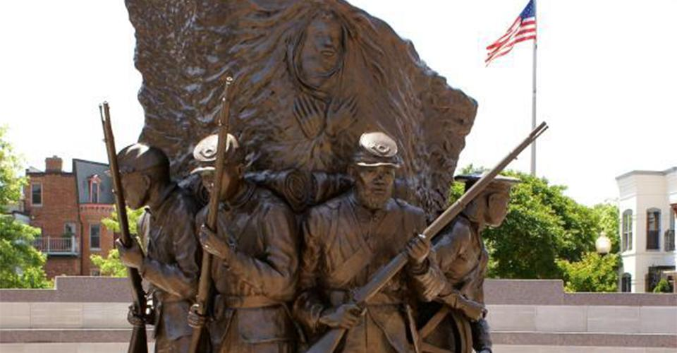 Image of statue honoring African American troops who fought in the Civil War
