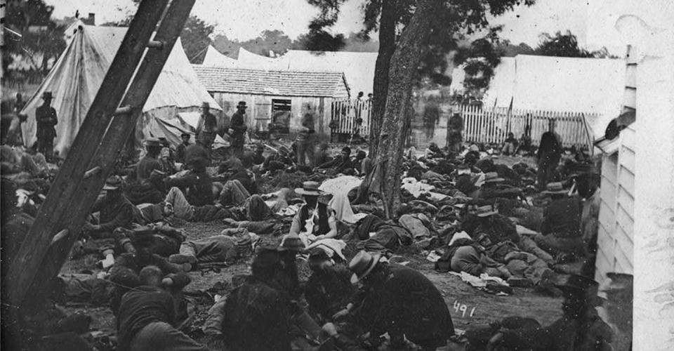 Image of Union encampment during the Civil War